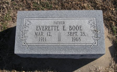 BOOE, EVERETTE ERNEST - Cowley County, Kansas | EVERETTE ERNEST BOOE - Kansas Gravestone Photos