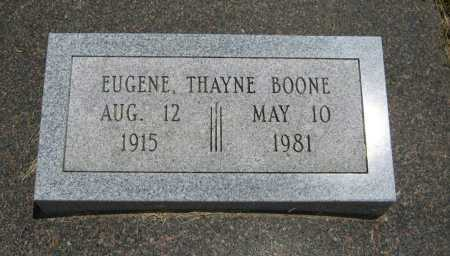 BOONE, EUGENE THAYNE - Cowley County, Kansas | EUGENE THAYNE BOONE - Kansas Gravestone Photos