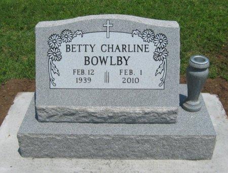 BOWLBY, BETTY CHARLINE - Cowley County, Kansas   BETTY CHARLINE BOWLBY - Kansas Gravestone Photos