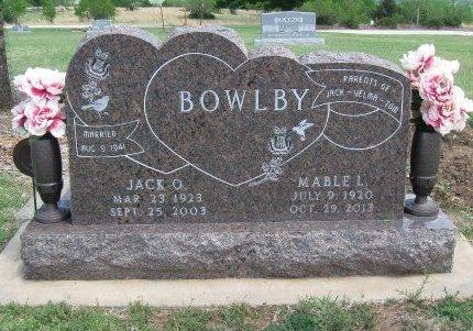 BOWLBY, MABLE L - Cowley County, Kansas | MABLE L BOWLBY - Kansas Gravestone Photos