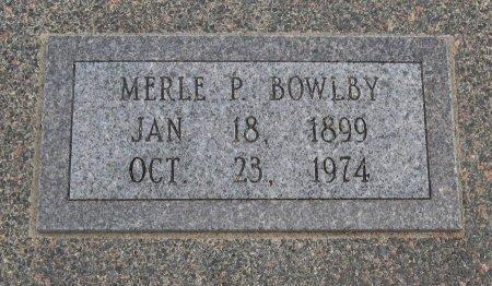 BOWLBY, MERLE P - Cowley County, Kansas   MERLE P BOWLBY - Kansas Gravestone Photos