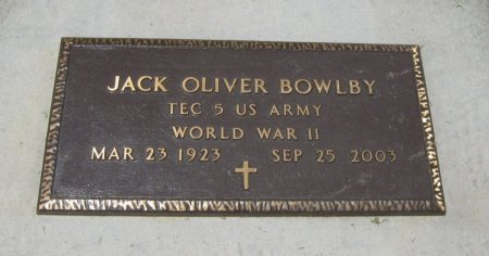 BOWLBY, JACK OLIVER (VETERAN WWII) - Cowley County, Kansas   JACK OLIVER (VETERAN WWII) BOWLBY - Kansas Gravestone Photos