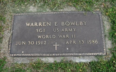 BOWLBY, WARREN FRANKLIN (VETERAN WWII) - Cowley County, Kansas   WARREN FRANKLIN (VETERAN WWII) BOWLBY - Kansas Gravestone Photos