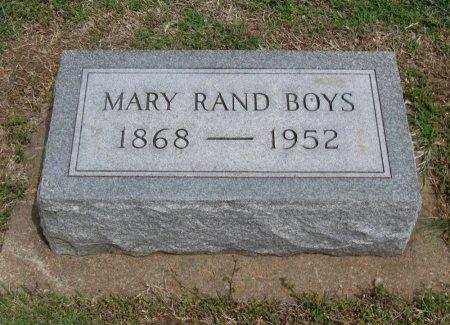 BOYS, MARY RAND - Cowley County, Kansas | MARY RAND BOYS - Kansas Gravestone Photos