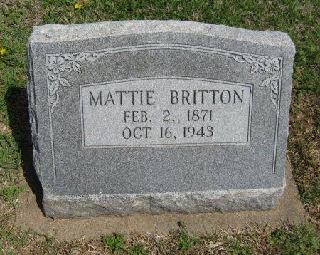 """BRITTON, MARTHA ANN """"MATTIE"""" - Cowley County, Kansas   MARTHA ANN """"MATTIE"""" BRITTON - Kansas Gravestone Photos"""