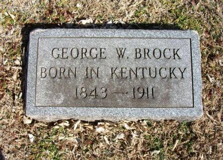 BROCK, GEORGE W  - Cowley County, Kansas | GEORGE W  BROCK - Kansas Gravestone Photos