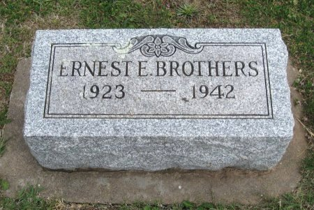 BROTHERS, ERNEST EUGENE - Cowley County, Kansas   ERNEST EUGENE BROTHERS - Kansas Gravestone Photos