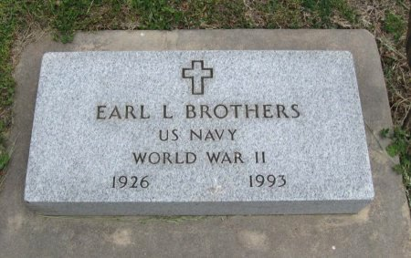 BROTHERS, EARL L (VETERAN WWII) - Cowley County, Kansas   EARL L (VETERAN WWII) BROTHERS - Kansas Gravestone Photos