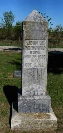 BROWNING, JOHN WESLEY - Cowley County, Kansas | JOHN WESLEY BROWNING - Kansas Gravestone Photos