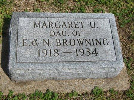 BROWNING, MARGARET U - Cowley County, Kansas   MARGARET U BROWNING - Kansas Gravestone Photos