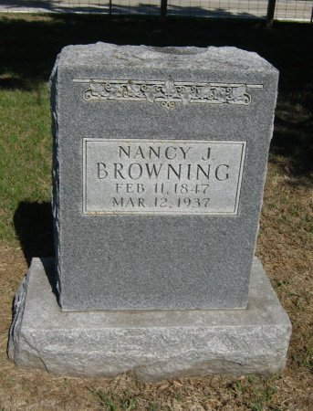 BROWNING, NANCY J - Cowley County, Kansas   NANCY J BROWNING - Kansas Gravestone Photos