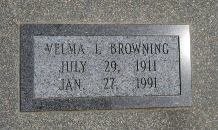 BROWNING, VELMA I - Cowley County, Kansas   VELMA I BROWNING - Kansas Gravestone Photos