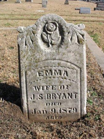 BRYANT, EMMA - Cowley County, Kansas | EMMA BRYANT - Kansas Gravestone Photos