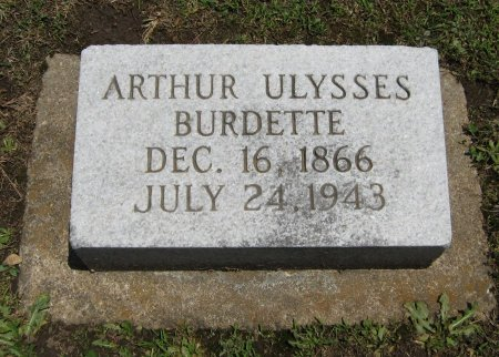 BURDETTE, ARTHUR ULYSSES - Cowley County, Kansas   ARTHUR ULYSSES BURDETTE - Kansas Gravestone Photos