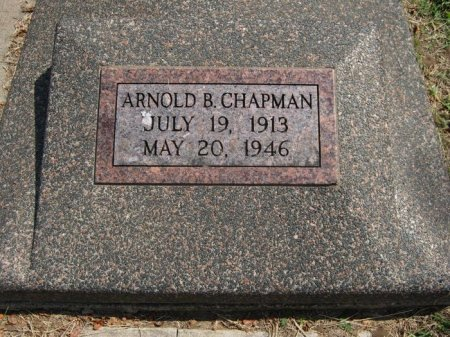 CHAPMAN, ARNOLD B - Cowley County, Kansas | ARNOLD B CHAPMAN - Kansas Gravestone Photos