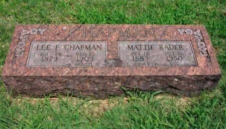 CHAPMAN, LEE F - Cowley County, Kansas | LEE F CHAPMAN - Kansas Gravestone Photos