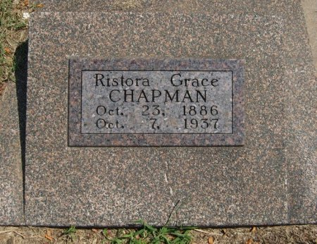 CHAPMAN, RISTORA GRACE - Cowley County, Kansas   RISTORA GRACE CHAPMAN - Kansas Gravestone Photos
