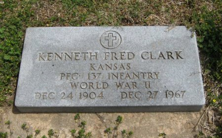 CLARK, KENNETH FRED (VETERAN WWII) - Cowley County, Kansas | KENNETH FRED (VETERAN WWII) CLARK - Kansas Gravestone Photos