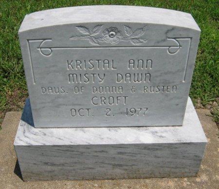 CROFT, KRISTAL ANN - Cowley County, Kansas | KRISTAL ANN CROFT - Kansas Gravestone Photos