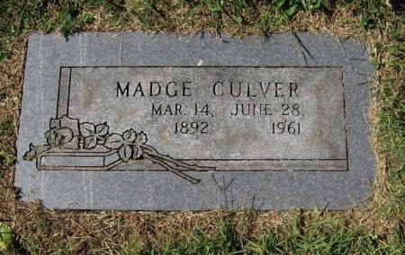 CULVER, MADGE - Cowley County, Kansas | MADGE CULVER - Kansas Gravestone Photos