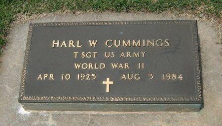 CUMMINGS, HARL W VETERAN WWII) - Cowley County, Kansas | HARL W VETERAN WWII) CUMMINGS - Kansas Gravestone Photos