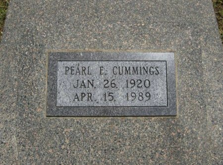 CUMMINGS, PEARL E - Cowley County, Kansas   PEARL E CUMMINGS - Kansas Gravestone Photos