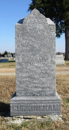 """CUNNINGHAM, ANDREW OLIVER """"ANDY"""" - Cowley County, Kansas   ANDREW OLIVER """"ANDY"""" CUNNINGHAM - Kansas Gravestone Photos"""