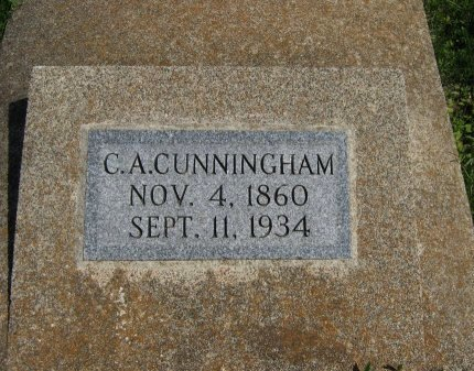 CUNNINGHAM, CHARLES A - Cowley County, Kansas | CHARLES A CUNNINGHAM - Kansas Gravestone Photos