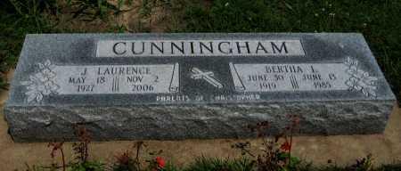 CUNNINGHAM, J LAURENCE - Cowley County, Kansas   J LAURENCE CUNNINGHAM - Kansas Gravestone Photos