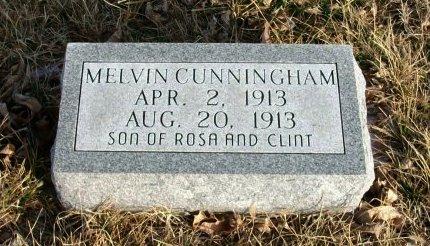 CUNNINGHAM, MELVIN MOORE - Cowley County, Kansas | MELVIN MOORE CUNNINGHAM - Kansas Gravestone Photos