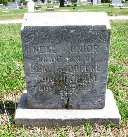CUNNINGHAM, NEAL JUNIOR - Cowley County, Kansas | NEAL JUNIOR CUNNINGHAM - Kansas Gravestone Photos