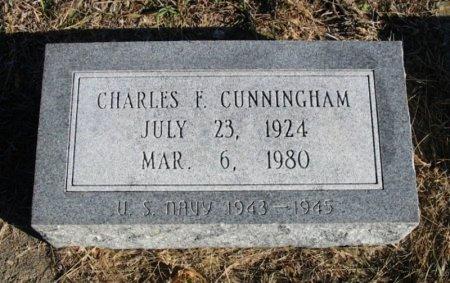 CUNNINGHAM , CHARLES F (VETERAN WWII) - Cowley County, Kansas   CHARLES F (VETERAN WWII) CUNNINGHAM  - Kansas Gravestone Photos