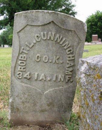 CUNNINGHAM, ROBERT LUTHER (VETERAN UNION) - Cowley County, Kansas   ROBERT LUTHER (VETERAN UNION) CUNNINGHAM - Kansas Gravestone Photos