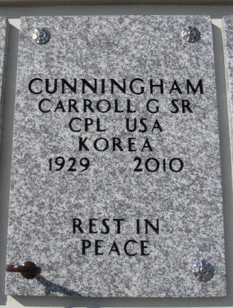 CUNNINGHAM   , CARROLL GENE,  SR (VETERAN KOR) - Cowley County, Kansas   CARROLL GENE,  SR (VETERAN KOR) CUNNINGHAM    - Kansas Gravestone Photos