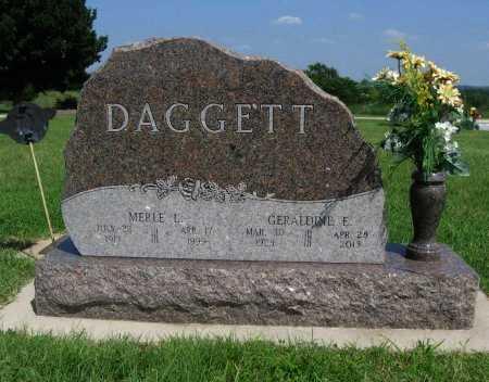 "GREEN DAGGETT, GERALDINE E ""GERRIE"" - Cowley County, Kansas | GERALDINE E ""GERRIE"" GREEN DAGGETT - Kansas Gravestone Photos"