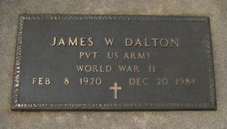 DALTON, JAMES W (VETERAN WWII) - Cowley County, Kansas   JAMES W (VETERAN WWII) DALTON - Kansas Gravestone Photos
