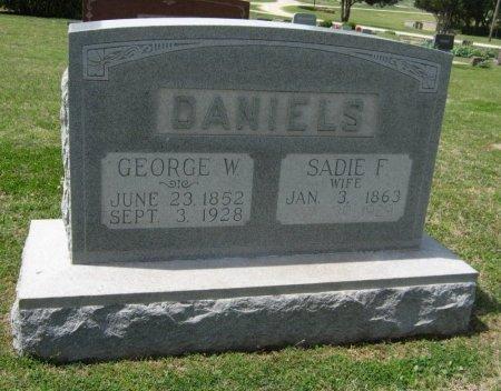 DETWILER DANIELS, SADIE F - Cowley County, Kansas   SADIE F DETWILER DANIELS - Kansas Gravestone Photos