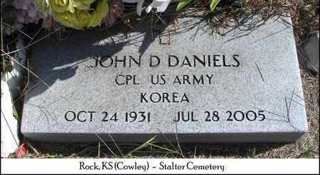 DANIELS, JOHN D  (VETERAN KOR) - Cowley County, Kansas   JOHN D  (VETERAN KOR) DANIELS - Kansas Gravestone Photos