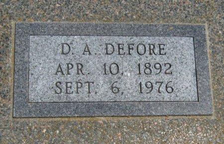 DEFORE, DANIEL A - Cowley County, Kansas | DANIEL A DEFORE - Kansas Gravestone Photos