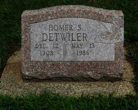 DETWILER, HOMER S (VETERAN WWII) - Cowley County, Kansas   HOMER S (VETERAN WWII) DETWILER - Kansas Gravestone Photos