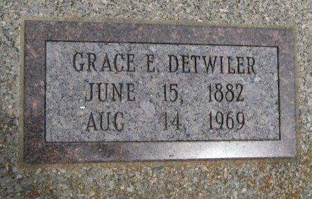 DETWILER, GRACE E - Cowley County, Kansas | GRACE E DETWILER - Kansas Gravestone Photos