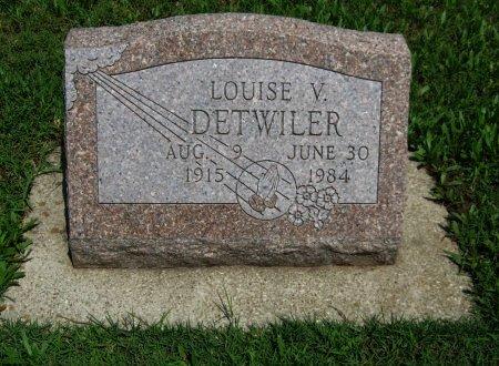 DETWILER, LOUISE V - Cowley County, Kansas | LOUISE V DETWILER - Kansas Gravestone Photos