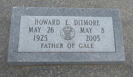 DITMORE, HOWARD E (VETERAN WWII) - Cowley County, Kansas   HOWARD E (VETERAN WWII) DITMORE - Kansas Gravestone Photos