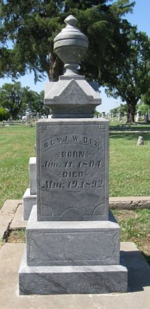 DIX, BENJAMIN W - Cowley County, Kansas | BENJAMIN W DIX - Kansas Gravestone Photos
