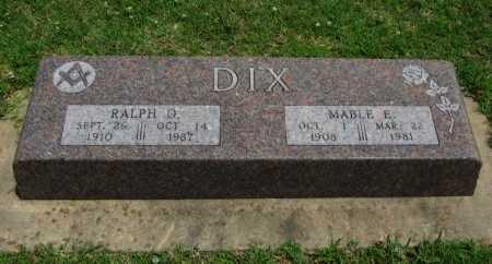DIX, RALPH D - Cowley County, Kansas | RALPH D DIX - Kansas Gravestone Photos