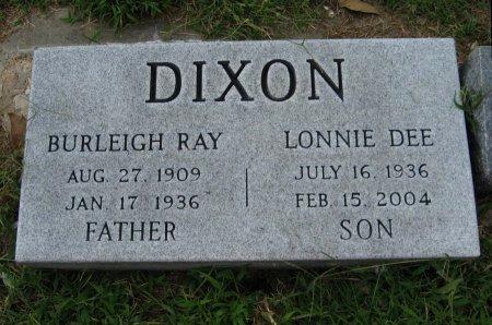 DIXON, BURLEIGH RAY - Cowley County, Kansas | BURLEIGH RAY DIXON - Kansas Gravestone Photos