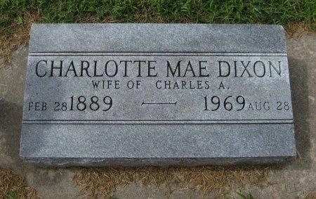 DIXON, CHARLOTTE MAE - Cowley County, Kansas   CHARLOTTE MAE DIXON - Kansas Gravestone Photos