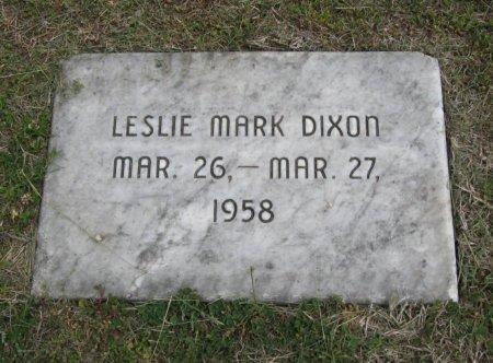 DIXON, LESLIE MARK - Cowley County, Kansas   LESLIE MARK DIXON - Kansas Gravestone Photos