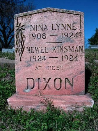 DIXON, NINA LYNNE - Cowley County, Kansas   NINA LYNNE DIXON - Kansas Gravestone Photos