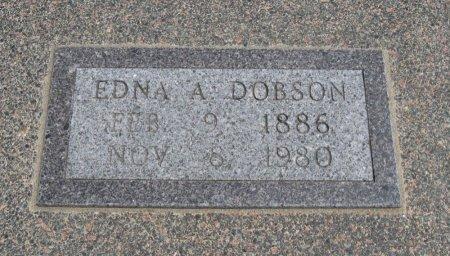 DOBSON, EDNA A - Cowley County, Kansas | EDNA A DOBSON - Kansas Gravestone Photos